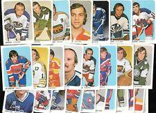 1973-74 QUAKER OATS 73-74 WHA HOCKEY CARD 1-50 SEE LIST