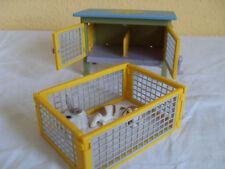 Schleich Hasenstall~41800~2 Hasen~Kaninchen Stall~TOP zustand