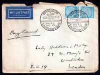 Germany 1937 Dusseldorf Exhibition Airmail cover WS7358