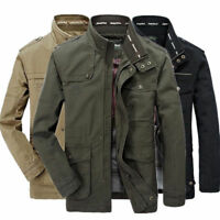 2019 Jeep Rich Men Outdoor Autumn Cotton Blend Zipper Warm Coat Jacket Outwear