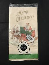Paper Tablecloth MERRY CHRISTMAS Santa in Sleigh by AMSCAN USA Table Cover