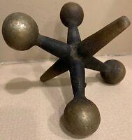 Vintage Metal Jack Jax Paper Weight Sculpture Mid Century Modern Curry Nelson