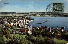 Starnberg Bayern Oberbayern AK 1911 Starnberger See Anleger Schiff Panorama Boot