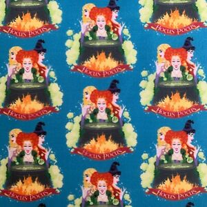 FQ HOCUS POCUS WITCH HALLOWEEN CHARACTER FABRIC