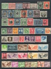PANAMA CANAL ZONE  small collection of 65 used stamps