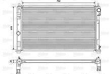 Radiatore motore JEEP COMPASS 2.2 CRD K680601AA ORIGINALE