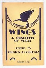 WINGS A QUARTERLY OF VERSE Summer 1941 - poem by Clark Ashton Smith.