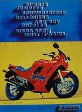 SUZUKI KATANA 600 Original Motorcycle Ad 1994