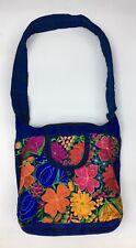 Guatemala Handmade Multicolor Floral Boho Hippie Shoulder Bag Crossbody F042