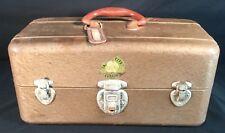 Vtg Union Chest Metal Tackle Tool Box 8007 Key 2 Green Trays Watertite