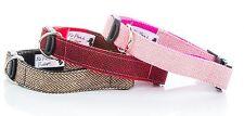 Brown, Red, Pink Tweed Herringbone Dog Collar OR Lead - All Sizes