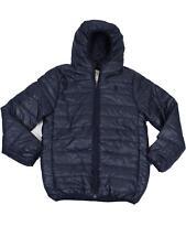 Kids Soul Star Hester Hood Packaway Down Effect Puffa Jacket Boys Coat Navy 11-12 Years