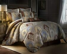 Venetian 8-piece Luxury Oversized Medallion Floral Jacquard Comforter Set