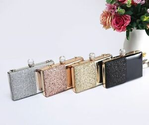 New Women's Ladies Girls Patent & Glitter Contrasting Evening/Party Clutch Bag