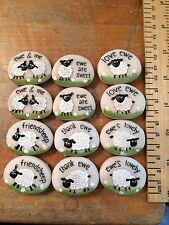 Sheep  Resin Pebble Ewe Love Friend Thanks Farmer Welsh Farming Wales Cymru Farm