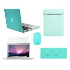 """5in1 Rubberized Hot Blue Case fr Macbook PRO 15"""" A1286 +Key Cover+LCD+ Bag+Mouse"""