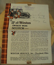 "RARE Original ca. 1922 Advertising PARTS Catalog~""WINTON AUTOMOBILE""~Very NICE~"