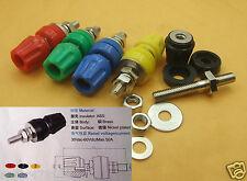 100PC 5 color 3KV Copper ΦM6 50A Binding Post for Power terminal 4mm Banana plug