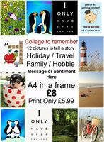 Personalised Collage Custom Photo Picture PRINT ONLY Image celebration memories