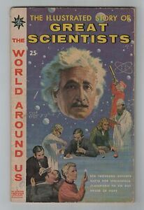 Dell 1960 GREAT SCIENTISTS - WORLD AROUND US No. 18 Curie Mendel Pasteur Galileo