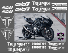 Triumph 675 765 Moto2 Prototype Replica Daytona - Graphics Sticker Decal Kit Set