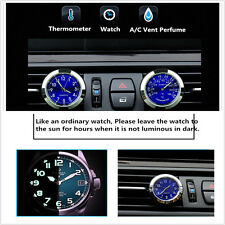 NEW Car Clock Watch Thermometer A/C Vent Clip Perfume Refill Storage Fragrance