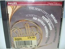 Mozart THE HORN CONCERTOS, Peter Damm, Academy St Martin F/Marriner, Philips NEW