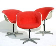 CHARLES EAMES 3 shell chairs Herman Miller fiberglass 50s 60s design la fonda