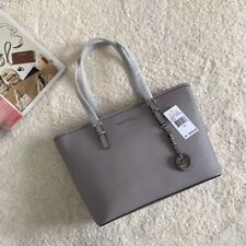 100% Michael Kors - Jet Set Travel Saffiano Leather - Top Zip Tote Grey Boxed🎁❤