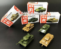 4 pcs WWII Military Germany Panther Tiger Tank 4D Finished Model Toy 1:144 Scale