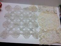 Vintage Doilie Hand Made Doily Crochet Lot Of 8 Damaged Staging N3