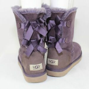 UGG Australia Women's Bailey Bow II Purple Boots Size 8