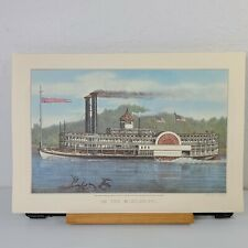 Currier and Ives Print On The Mississippi Travelers Insurance July 1978 11x16