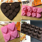 Silicone Chocolate Cake Mould Cookies Baking Tool Candle Mold Ice Cube Tray Soap
