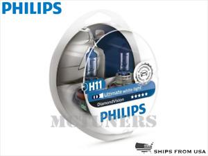 NEW! PHILIPS Diamond Vision H11 Headlight halogen bulbs 12362DVS2