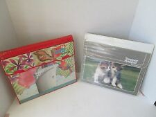 2x Vintage Mead Trapper Keeper Notebook Binders KITTEN CATS & CRUISE PARROTS SEA