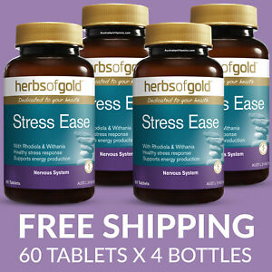 Herbs of Gold Stress Ease - 60 Tablets - 4 PACK - $24.25 each