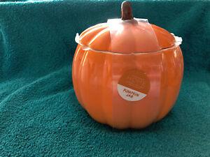 Brand new Large Ceramic Cookie Jar Decoration Halloween Pumpkin Orange