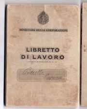 PNF TESSERA LIBRETTO DI LAVORO MINISTERO DELLE CORPORAZIONI MILANO 1941 tss