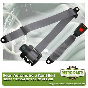 Rear Automatic Seat Belt For Nissan Greybird Berlina 1972-1980 Grey