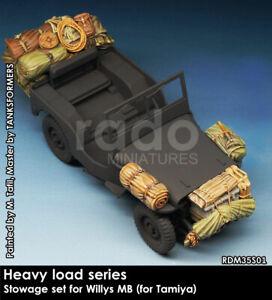 Rado Miniatures 1/35 Willys MB Heavy Load Stowage for Tamiya kits