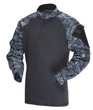 1/4 Zip Tactical Combat Shirt by TRU-SPEC 2571- MIDNIGHT DIGITAL - Free Shipping