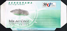 460 COSTA RICA PS STATIONERY AIR LETTER AEROGRAMME 1998 UNUSED ISLA DEL COCO