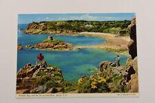 PORTELET BAY & THE ILE AU GUERDAIN JERSEY JOHN HINDE ORIGINAL POSTED 1974