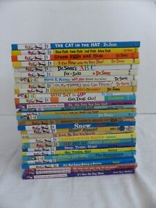 Lot of 28 Dr. Seuss Beginner Books Hardcover Children's Learning Library