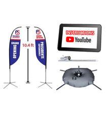 10.4 ft Double-Sided Full Color Custom Feather Flag Advertising Blade Banner Kit