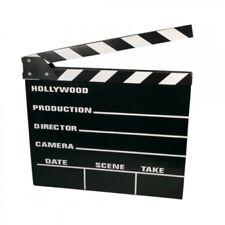 2x Filmklappe +Kreide TV-Klappe Regieklappe 20 x 18 cm Film Klappe Regie Klappe
