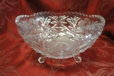 """Round Floral 3 Toed Bowl AS IS, 4 1/8"""""""