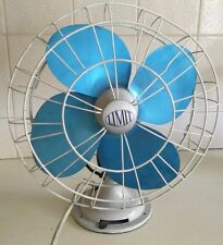 Vintage VERITYS FANS LTD 12'' BLUE BLADE DESK FAN - Antique 1958 220volts