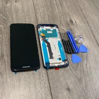 Motorola Moto G6 Play XT1922-2 Touch Digitizer LCD Screen Assembly Black Frame